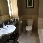 large, bright and very well- appointed bathroom, room 1913