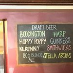 Whats on tap.