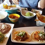 Tacos, Enchilada mole, tortilla soup, queso