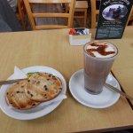Toasted Tea Cake and Hot Chocolate