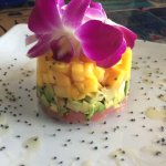 my lunch of ahi, avocado, mango