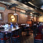 Old brick walls make the space very warm