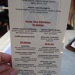 Happy hour food menu