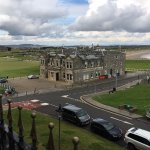 View from our room of the Old Course and the R&A. Can't get much closer!