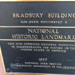 Plaque outside Bradbury building