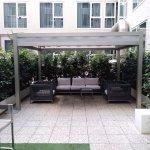 Nice courtyard for smokers
