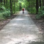 Picnic area, bike trail, sink hole, brave deer