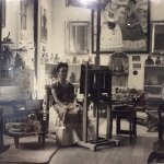 Kahlo in her studio.