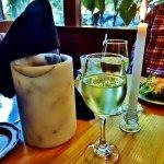 Enjoying a bottle of Moscato.