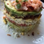8-layer Lobster Cobb Salad - lobster, avocado,ranch, bacon, blue cheese, tomato, lettuce