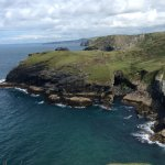 View f the spectacular coast from Tintagel