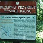 The trial Wysokie Bagno info board