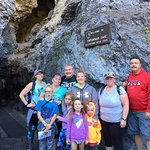 This was our group for the Cave Tour (ages 4 to 62)