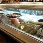 The fresh seafood bar