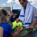 Richard Gasquet signs autographs after practice