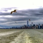 View of Manhattan from Staten Island Ferry