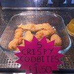 5 CRISPY CODBITES FOR £1.50