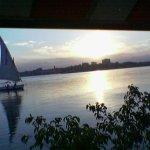Sun set from Fridays window at Maadi Nile cornish.