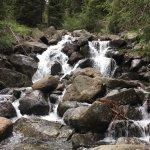 waterfalls on the walking path between Madonna di Campiglio and rifugio Lago Nambino