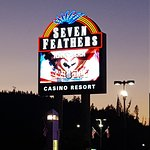 Seven Feathers Casino Entrance and Statue