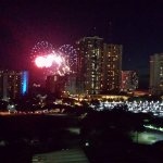 View from my room watching the fireworks show.