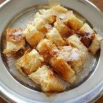 Bougatsa portion with sugar