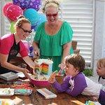 Rainbow birthday cake......A big hit!