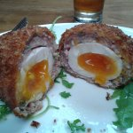 Hot scotch egg @The Old Post Office, beautiful.