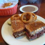 Pastrami with side of onion rings - yummers!!!!