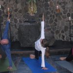 yoga at the temple
