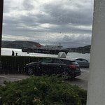The view from the lounge area (that's the ferry to Mull)