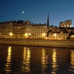 Paris from the Seine River