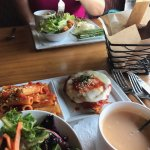 Lunch 4 for 1 includes soup, salad, entree, vegetable for $16
