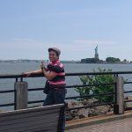 view of statue of liberty from this park