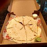 Mucho grande quesadilla -- in a pizza box!