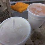 Delicious horchata and ice cream