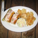 lobster roll at Lure fish bar