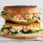 Our Lobster roll Grilled cheese