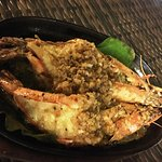 Garlic butter king prawns
