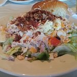 This is California Dreaming's premier Chef's Salad topped with lots of bacon bits.