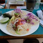 The BEST lunch in Cabo! Fresh sea bass tacos.