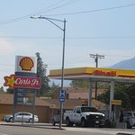 Take Care of Gas and Food With One Stop - Shell, Carl's Jt, Lone Pine, Ca