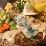Baked salmon with citrus crust