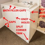 room wash basin - poor workmanship