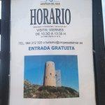 Horario de la torre visitable (verano 2017)