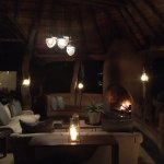 Dithaba Lodge at night