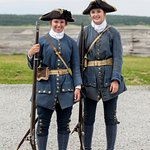 Two of the re-enactment French troops.