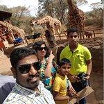 selfi with Giraff
