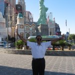Glimpses of Statue of Liberty @ New York - New York Hotel in Vegas