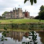 Ripley Castle across the lake